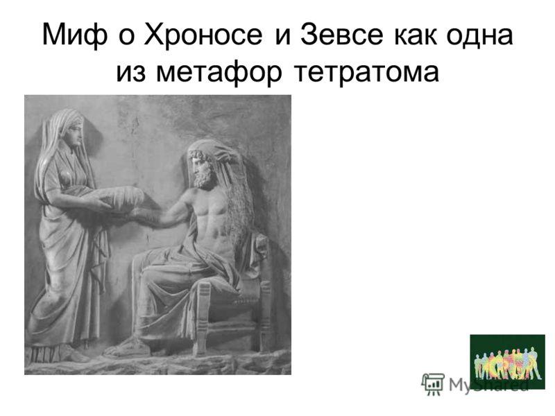 Миф о Хроносе и Зевсе как одна из метафор тетратома