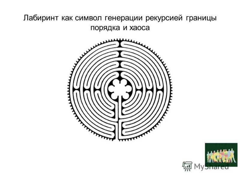 Лабиринт как символ генерации рекурсией границы порядка и хаоса