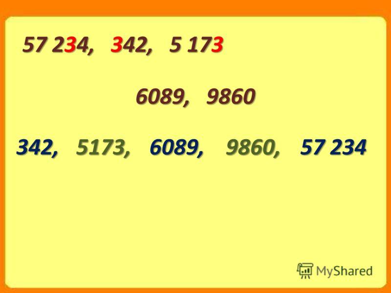 6089, 9860 57 234, 342, 5 173 342,5173,6089,9860,57 234