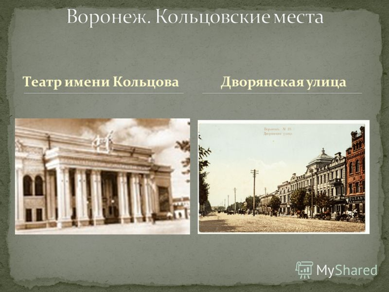 Театр имени КольцоваДворянская улица