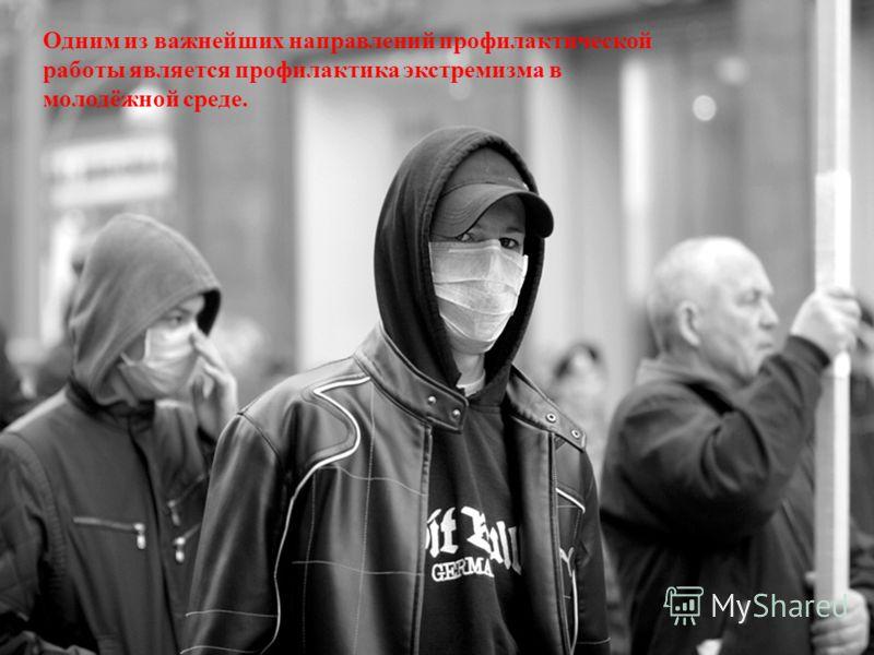 Одним из важнейших направлений профилактической работы является профилактика экстремизма в молодёжной среде.