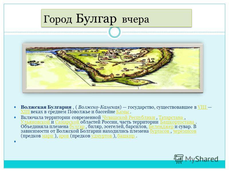 Карта Татарстана, город Булгар