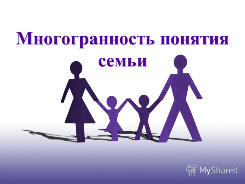 Многогранность понятия семьи
