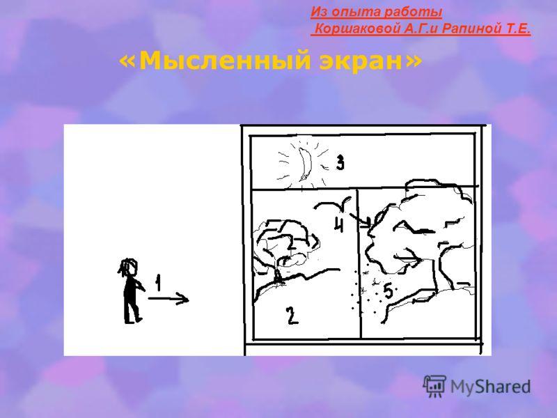 Из опыта работы Коршаковой А.Г.и Рапиной Т.Е. «Мысленный экран»