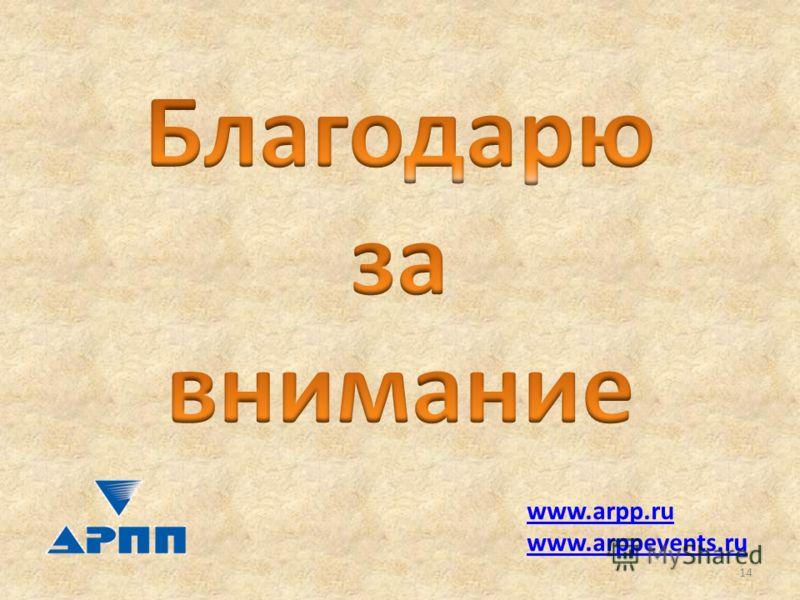 www.arpp.ru www.arppevents.ru 14