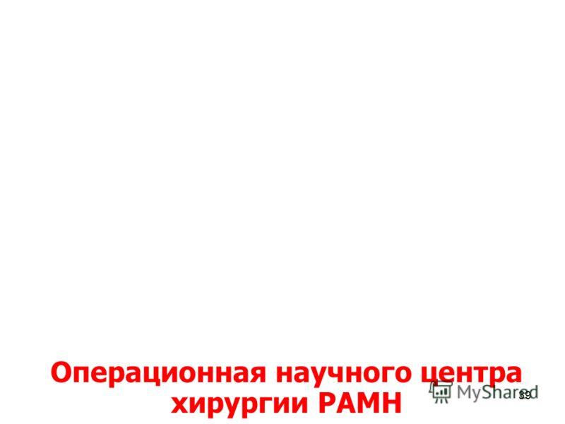 39 Операционная научного центра хирургии РАМН