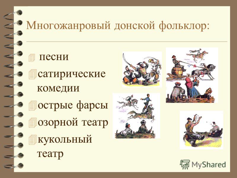 Проверь себя: 4 Как в донских казацких песнях отражена душа народа? 4 Раскройте жанрово- художественное своеобразие песен.