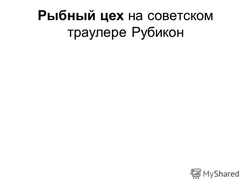 Рыбный цех на советском траулере Рубикон