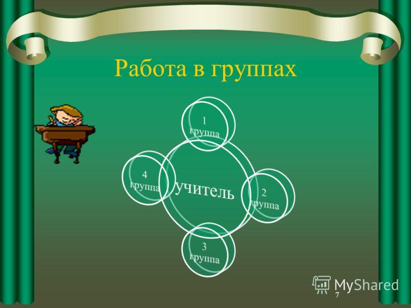 Работа в группах 7