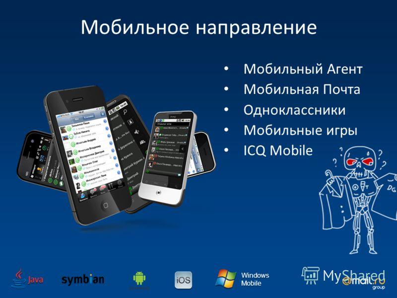 Windows Mobile Windows Mobile Мобильное направление Мобильный Агент Мобильная Почта Одноклассники Мобильные игры ICQ Mobile
