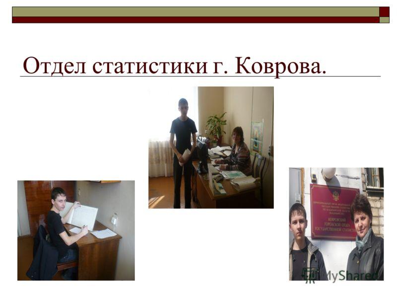 Отдел статистики г. Коврова.