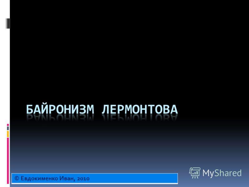© Евдокименко Иван, 2010