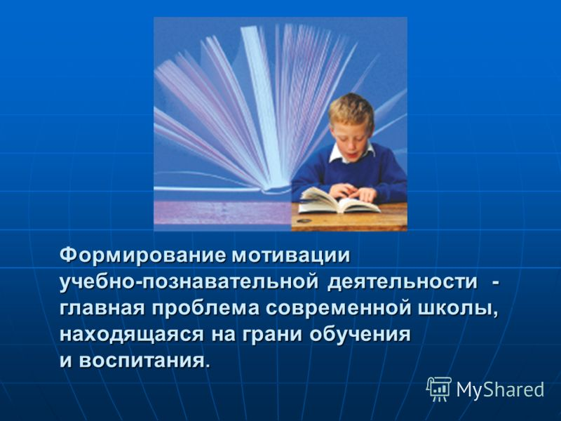 Формирование мотивации учебно-познавательной деятельности - главная проблема современной школы, находящаяся на грани обучения и воспитания.