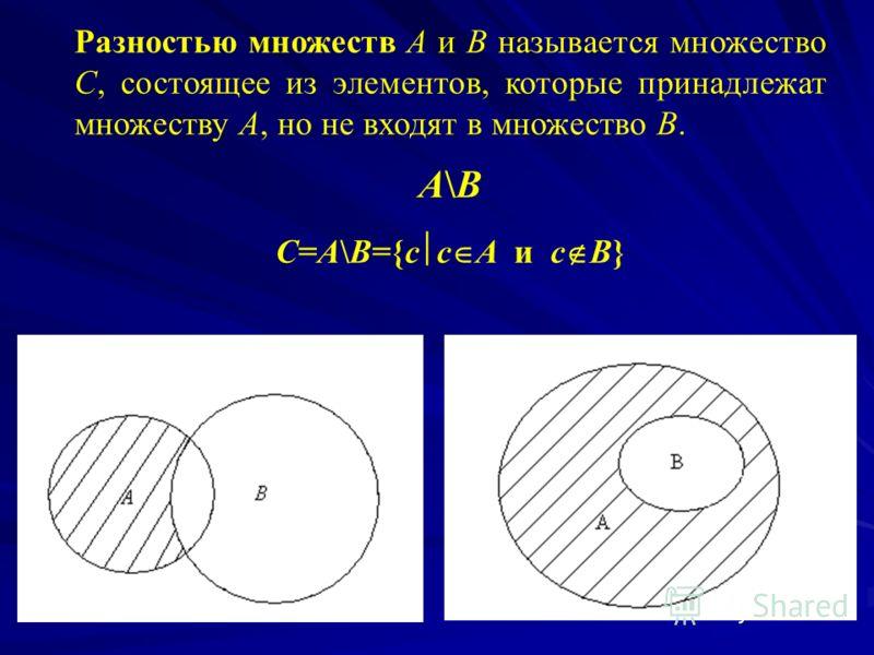 Пересечением множеств А и В называется множество С, состоящее из элементов, которые принадлежат как множеству А, так и множеству В одновременно. А В С=А В={c c A и с В} А В = В А (А В) С = А (В С) (А В) С = (А С) (В С) А А=А Если А В, то А В=А.