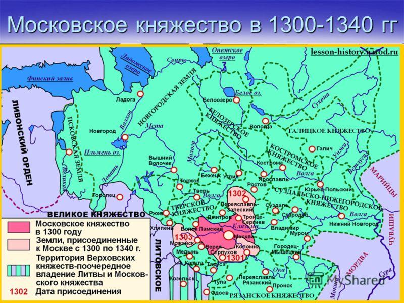 Московское княжество в 1300-1340 гг