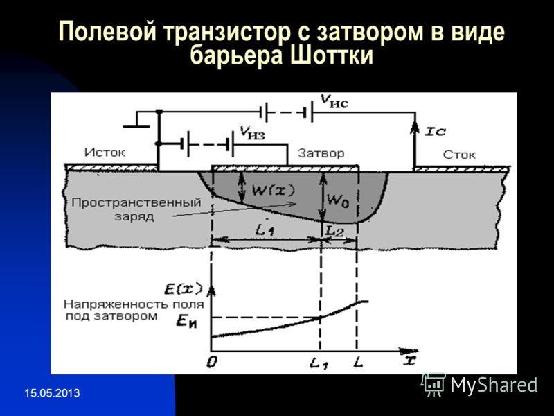 15.05.2013 Полевой транзистор с затвором в виде барьера Шоттки