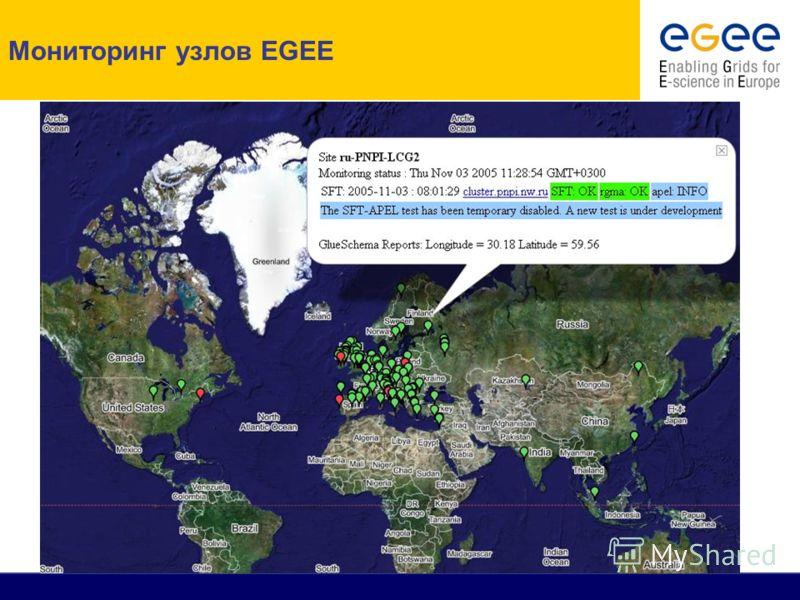Мониторинг узлов EGEE