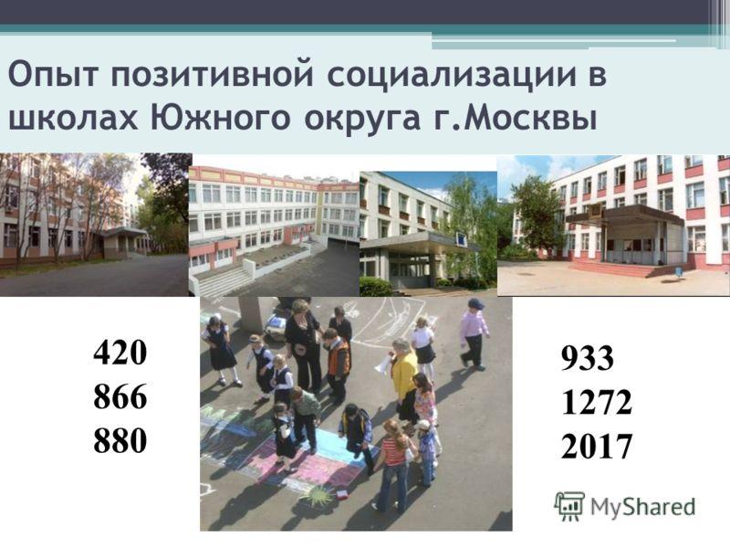 Опыт позитивной социализации в школах Южного округа г.Москвы 420 866 880 933 1272 2017