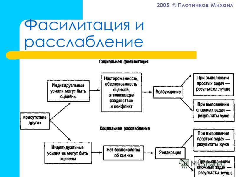 2005 Плотников Михаил Фасилитация и расслабление