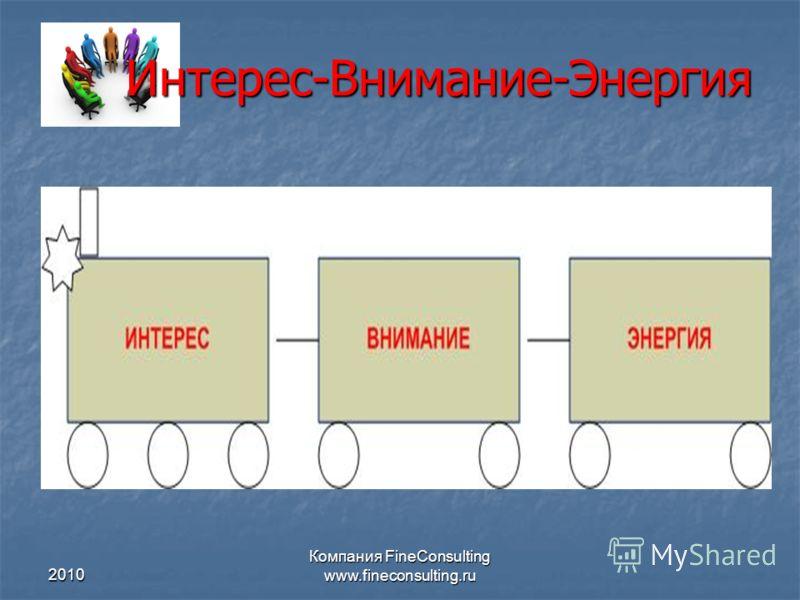 2010 Компания FineConsulting www.fineconsulting.ru Интерес-Внимание-Энергия