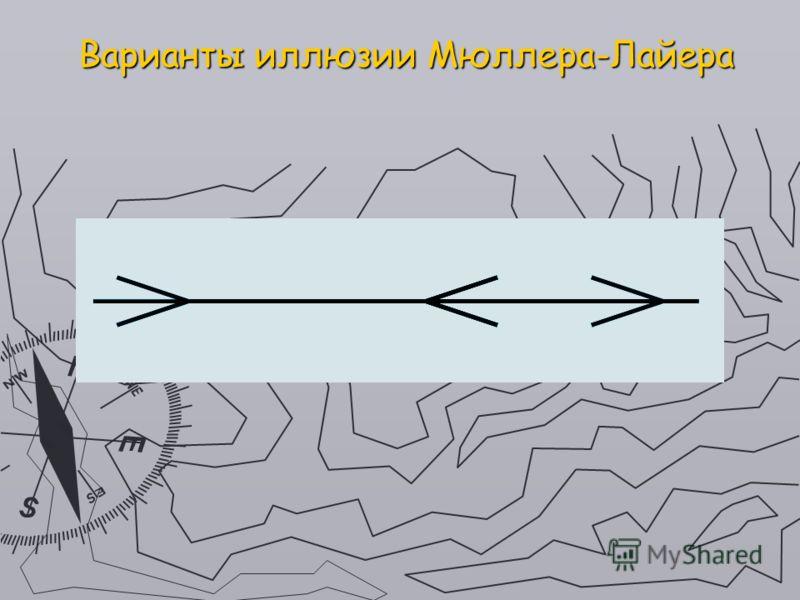 Варианты иллюзии Мюллера-Лайера