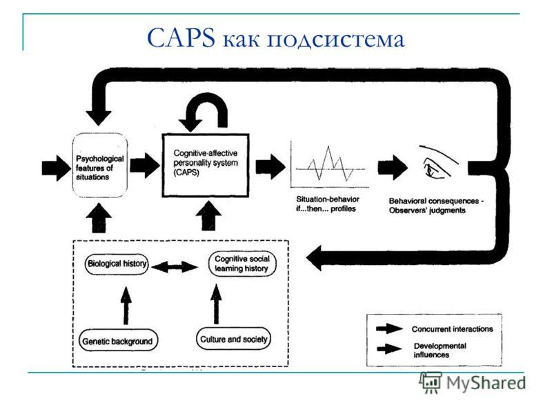 CAPS как подсистема