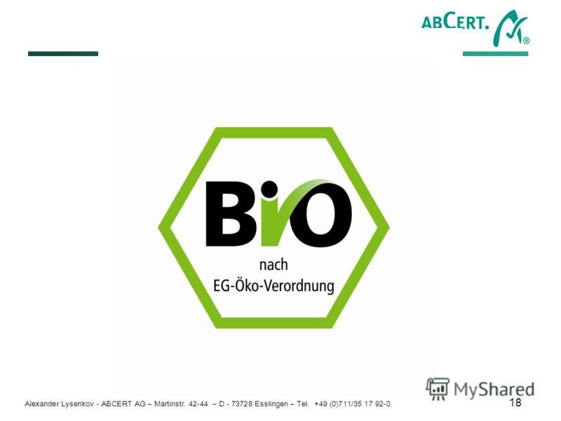 Alexander Lysenkov - ABCERT AG – Martinstr. 42-44 – D - 73728 Esslingen – Tel. +49 (0)711/35 17 92-0 18
