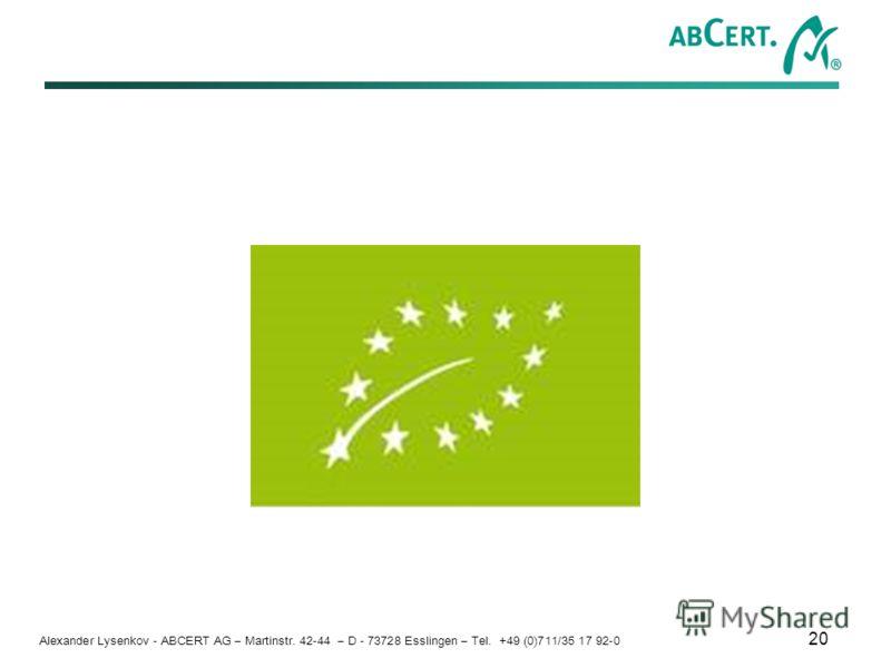 Alexander Lysenkov - ABCERT AG – Martinstr. 42-44 – D - 73728 Esslingen – Tel. +49 (0)711/35 17 92-0 20