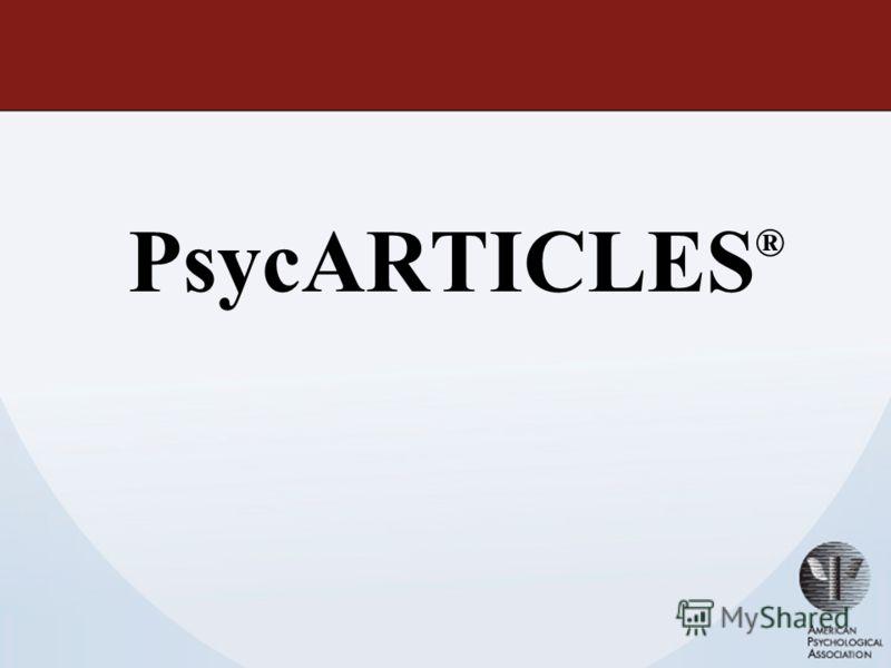 PsycARTICLES ®