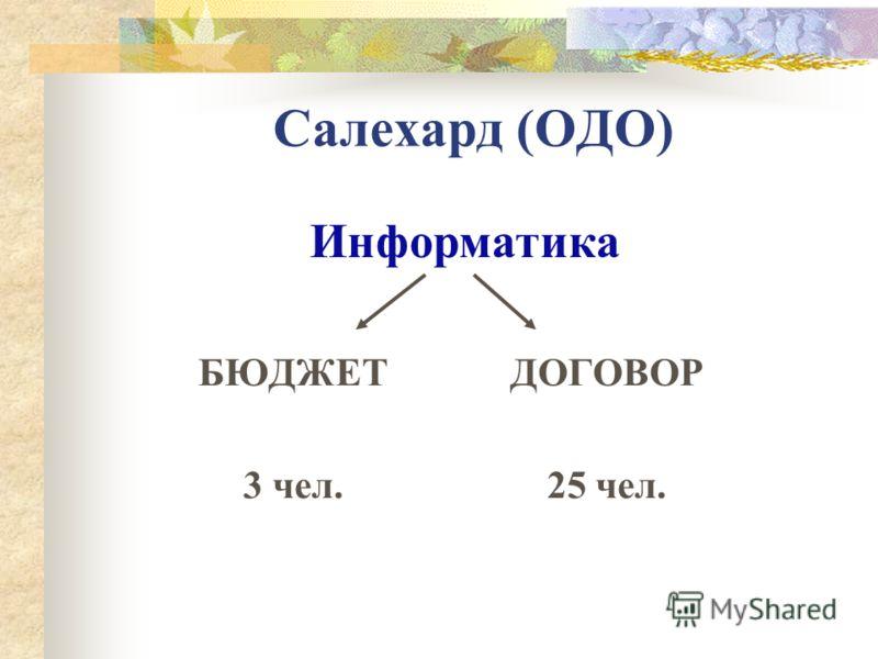 Салехард (ОДО) БЮДЖЕТ 3 чел. ДОГОВОР 25 чел. Информатика