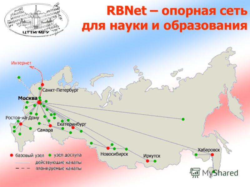 RBNet – опорная сеть для науки и образования