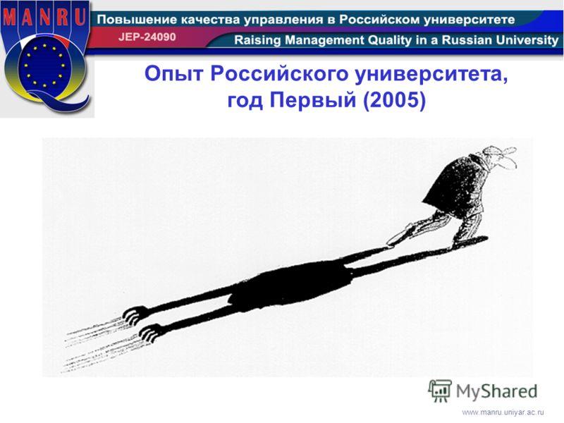 www.manru.uniyar.ac.ru Опыт Российского университета, год Первый (2005)