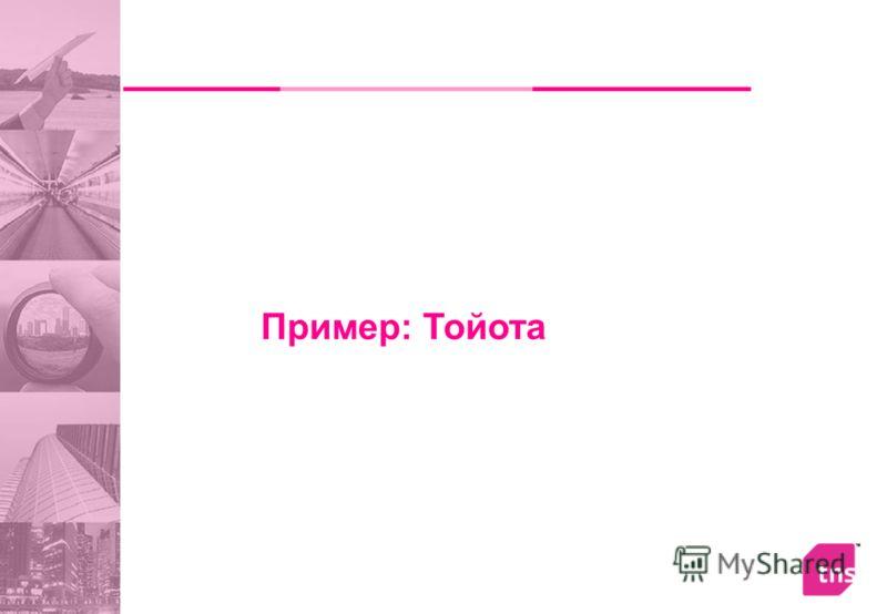 Пример: Тойота