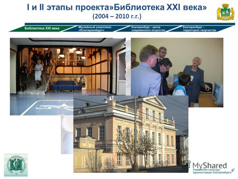 I и II этапы проекта»Библиотека XXI века» (2004 – 2010 г.г.)