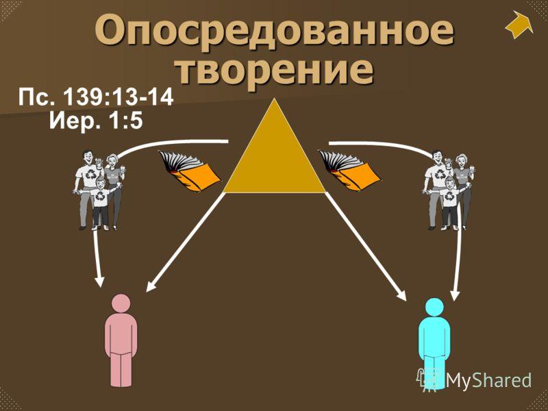 Опосредованное творение Пс. 139:13-14 Иер. 1:5