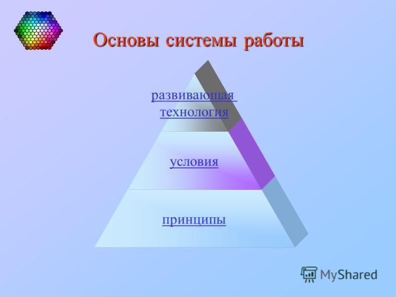 Основы системы работы развивающая технология условия принципы