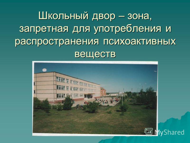 Школьный двор – зона, запретная для употребления и распространения психоактивных веществ