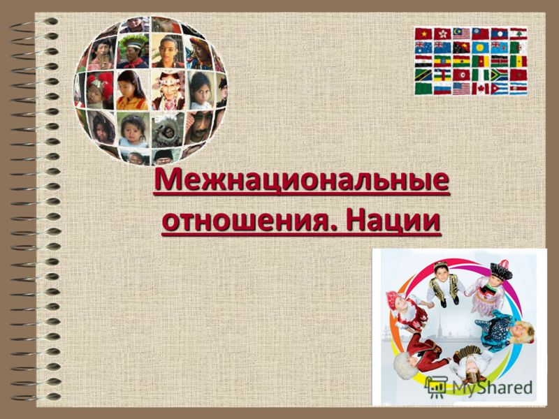 Межнациональные отношения. Нации
