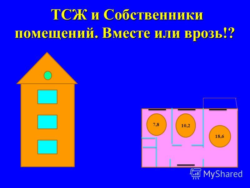 ТСЖ и Собственники помещений. Вместе или врозь!? 7,8 10,2 18,6