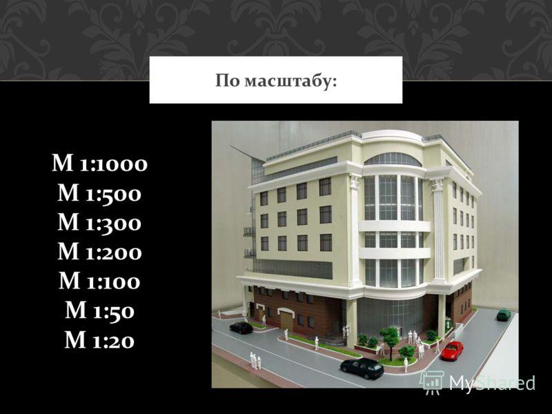 По масштабу: М 1:1000 М 1:500 М 1:300 М 1:200 М 1:100 М 1:50 М 1:20