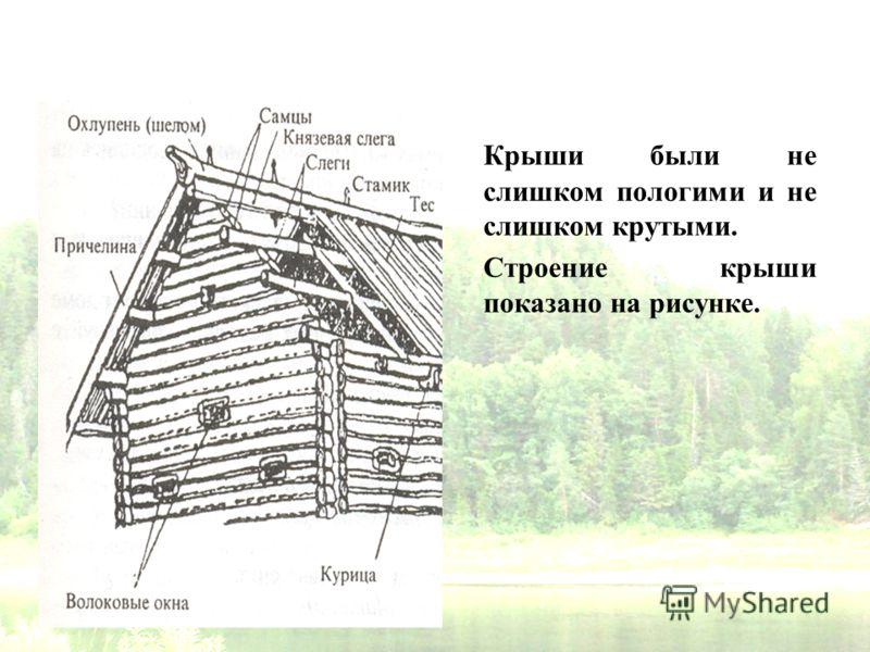 Крыши были не слишком пологими и не слишком крутыми. Строение крыши показано на рисунке.