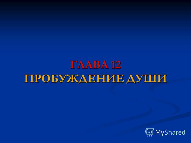 ГЛАВА 12 ПРОБУЖДЕНИЕ ДУШИ