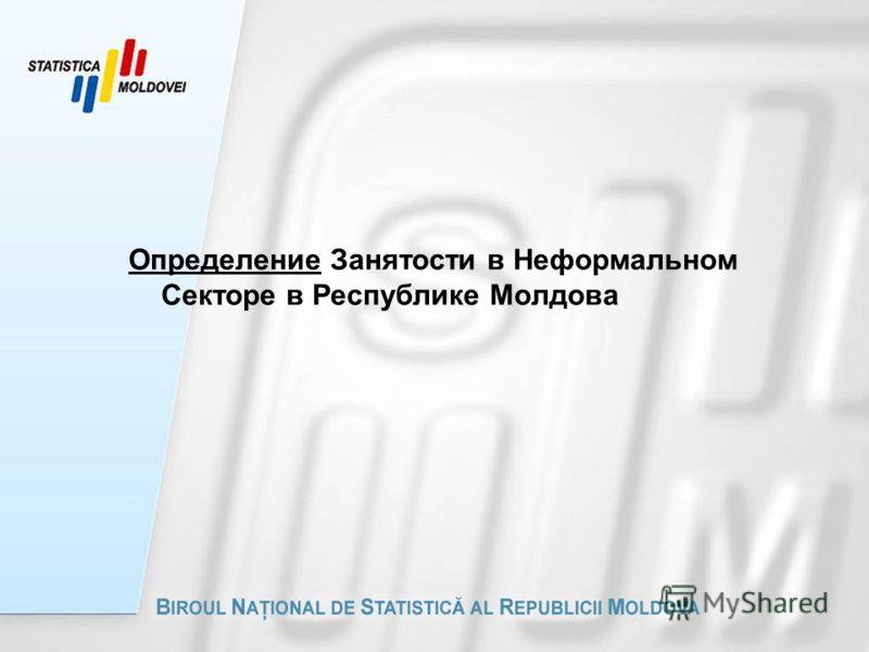 Определение Занятости в Неформальном Секторе в Республике Молдова