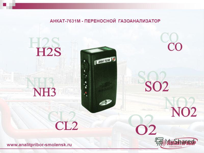 www.analitpribor-smolensk.ru АНКАТ-7631М - ПЕРЕНОСНОЙ ГАЗОАНАЛИЗАТОР