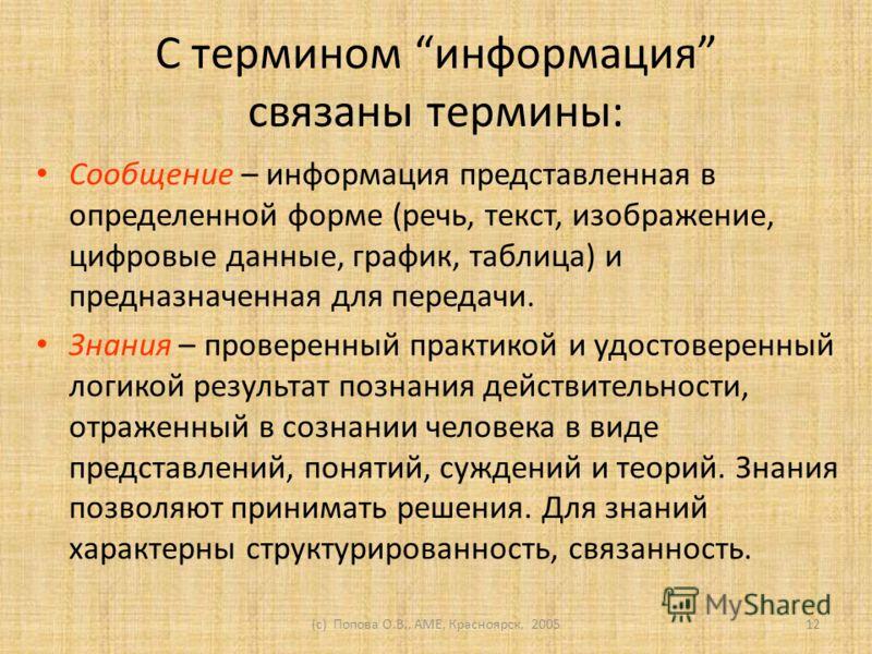 (c) Попова О.В., AME, Красноярск, 200511 Пример данных: 812, 930, 944. Пример информации: 812 руб., 930 руб., 944 руб. Более информативное сообщение: 812 руб., 930 руб., 944 руб. - цены на бальзам после бритья. Ещё более информативное: 812 руб., 930