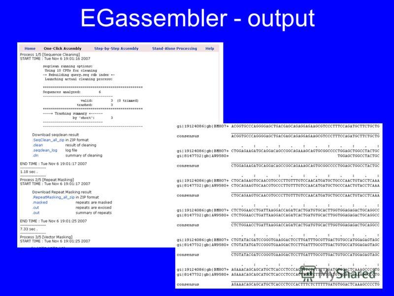 EGassembler - output