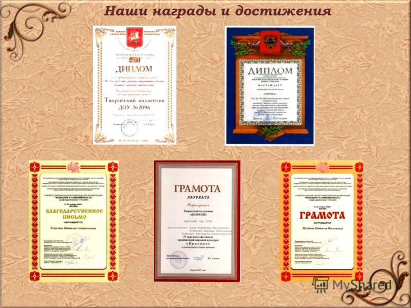 Наши награды и достижения