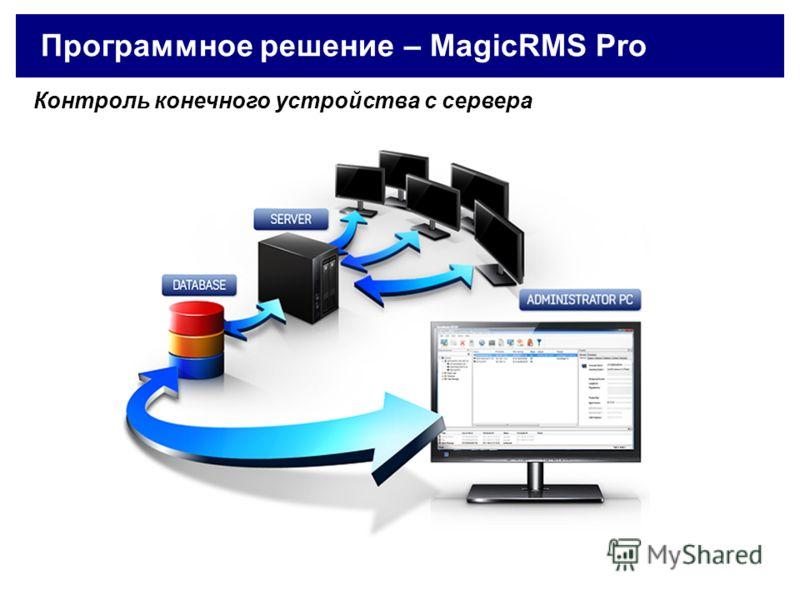 Программное решение – MagicRMS Pro Контроль конечного устройства с сервера