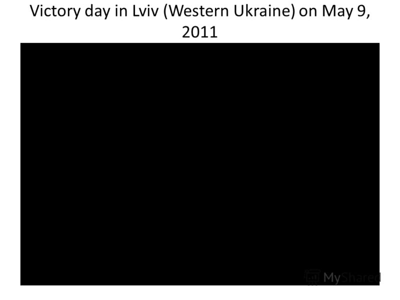 Victory day in Lviv (Western Ukraine) on May 9, 2011