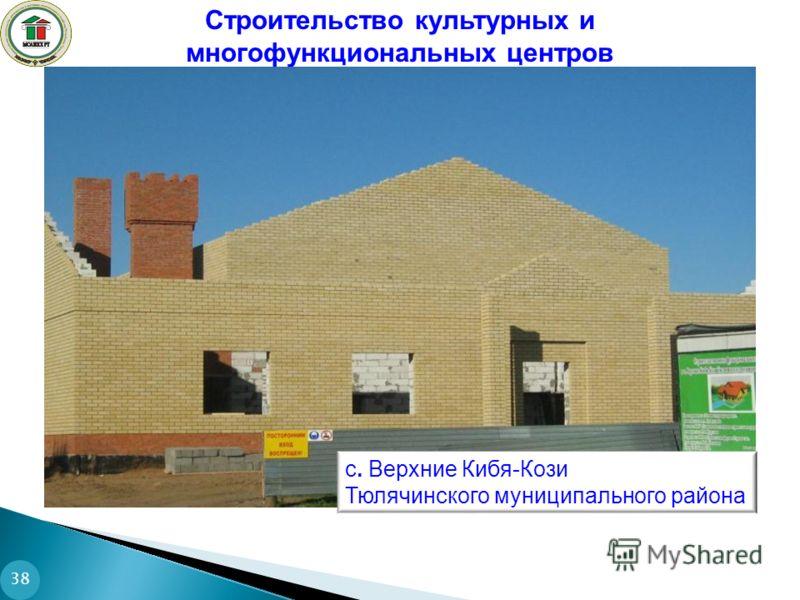 Строительство культурных и многофункциональных центров 38 с. Верхние Кибя-Кози Тюлячинского муниципального района